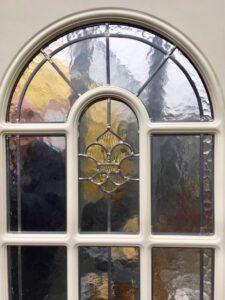 Glas in looddeur als voordeur