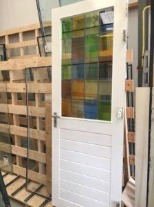 Glas in looddeur restauratie