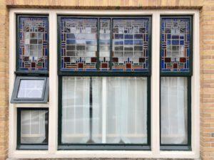 Glas in lood ramen voorbeelden jaren dertig
